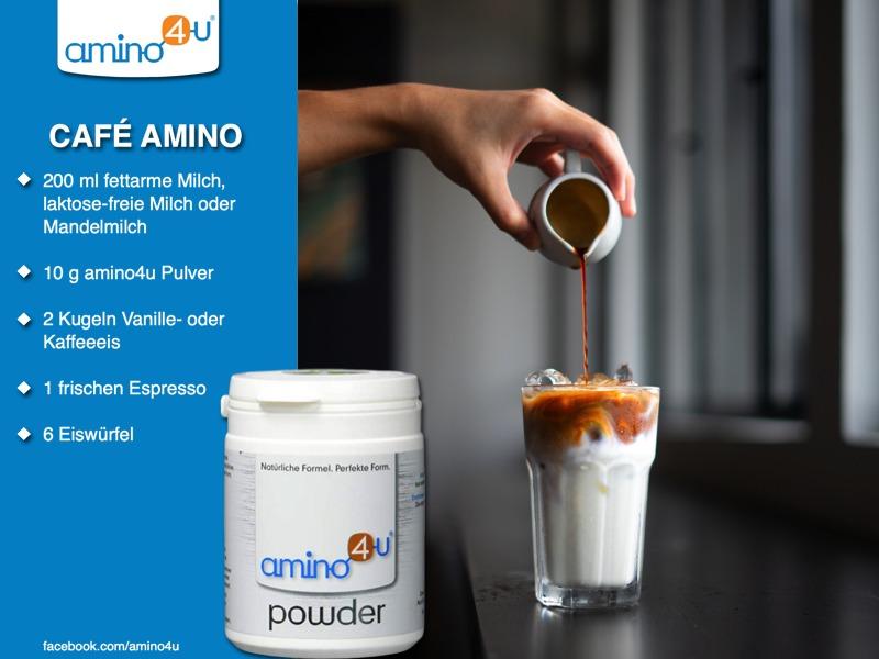 Eiskaffee Mit Amino4u Pulver