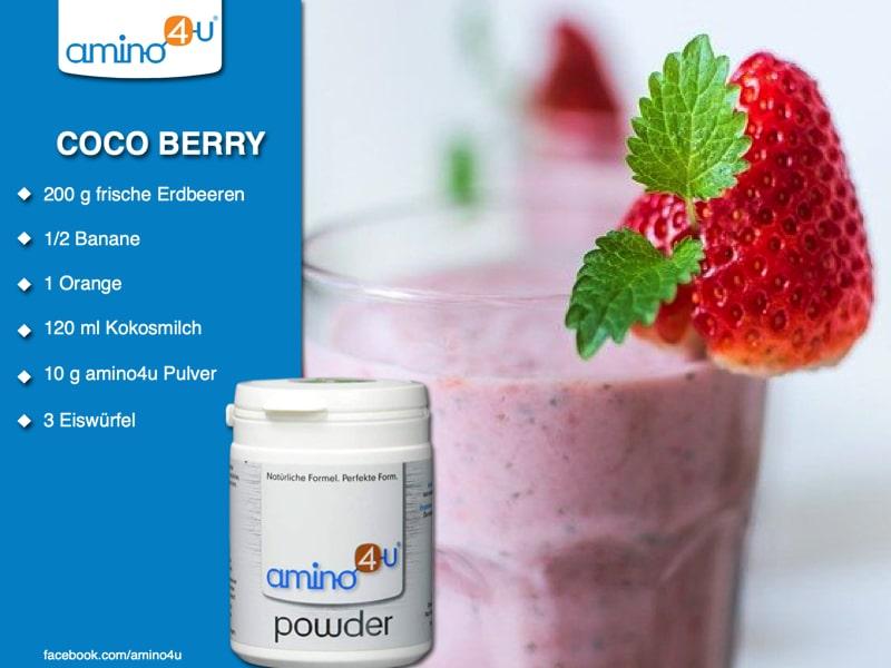 Shake Aus Erdbeeren & Kokosmilch